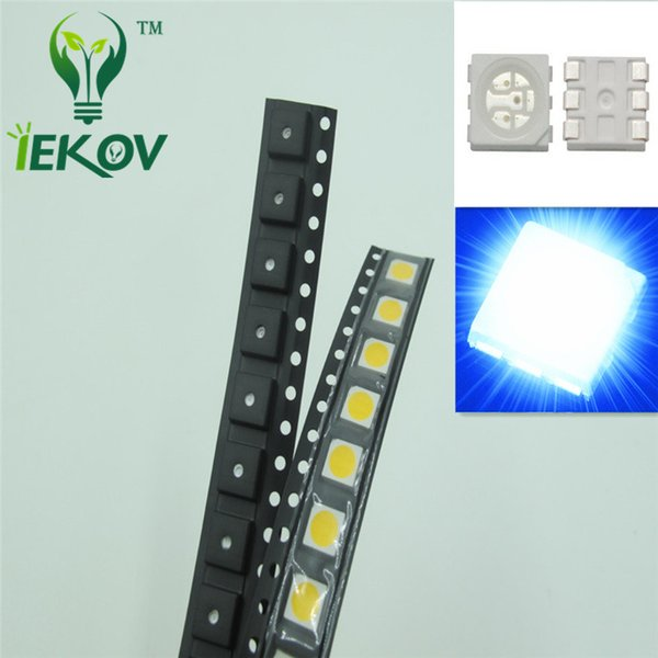 5000pcs High Quality PLCC-6 5050 SMD Blue led Super Bright Light Diode 465-475nm For Bike DIY SMD/SMT Chip lamp beads