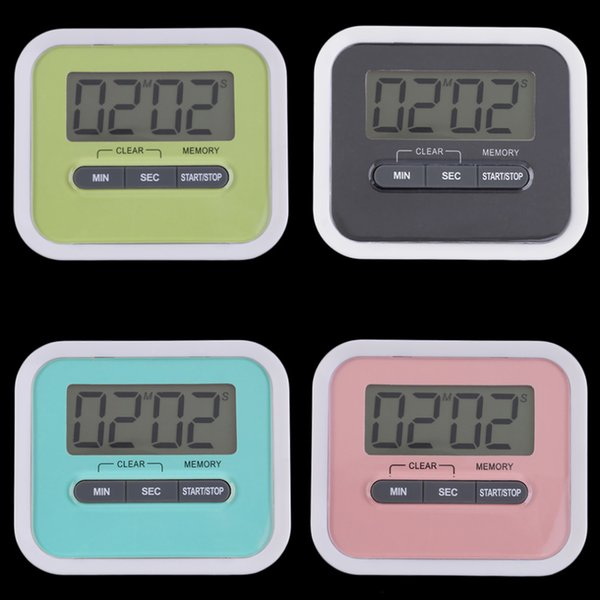 New Large Multifunction LCD Kitchen Cooking Timer Count-Down Up Clock Loud Alarm Magnetic free shipping