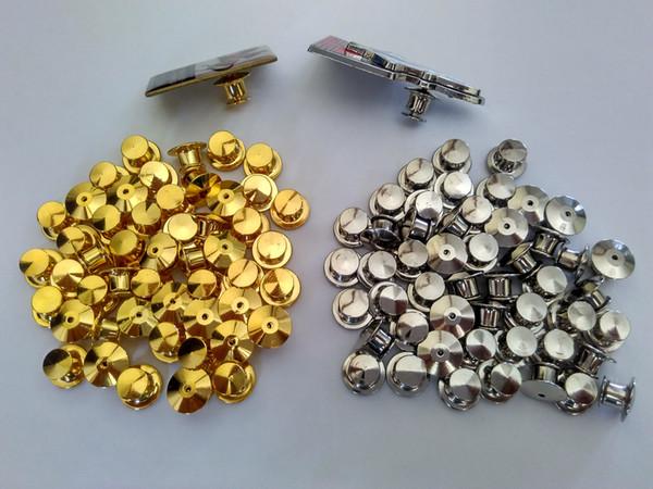 Goldsilver pour Bijoux Police Club militaire HatBrass Lapel Pin Gardiens de verrouillage Backs Savers Porte-Locks Aucun outil d'embrayage requis Clasp