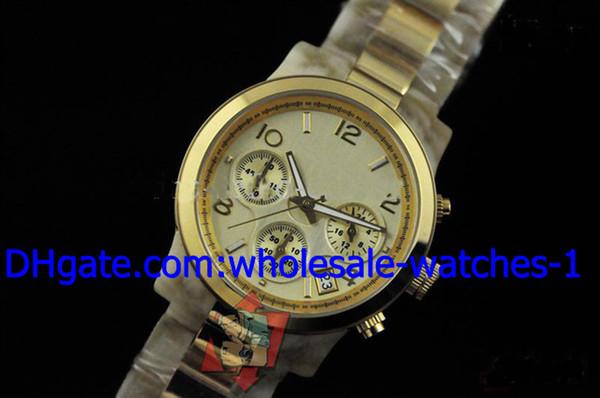 Venda por atacado - New StyleLuxury 18K Rose Gold Ladies relógio de silicone branco de médio porte Chronograph relógios das mulheres