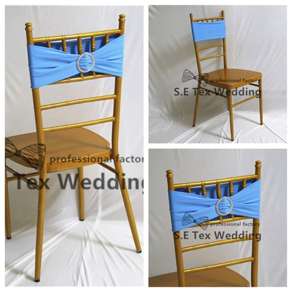Precio al por mayor de doble capa de Lycra Spandex de la silla de la banda \ marco de la silla con hebilla para el envío Chiavari Silla Decoración gratuito