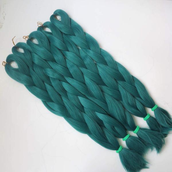 kanekalon jumbo braiding hair Pale Petrol Blue color high temperature synthetic jumbo braiding hair free shipping