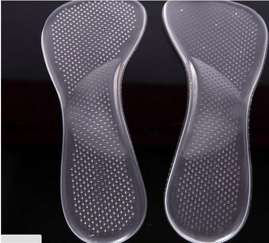 Gel Pad Foot Massage Insole Non-Slip Sandals High Heel Arch Cushion Support Silicone Gel Pads Shoes Insole 100Pairs DHL Free