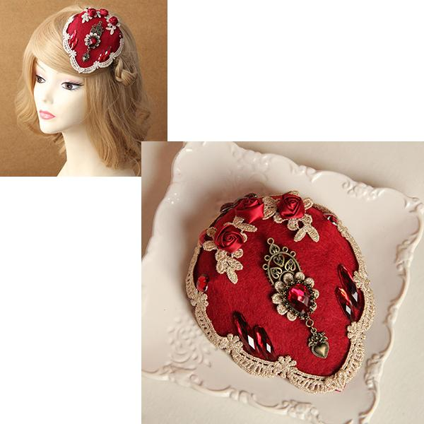 Ladies Women Royal Style Lace Flower Fascinator Hat Clip Pin Masquerade Party Headdress Prom Fancy Dance Hair Barrettes Hair Decor