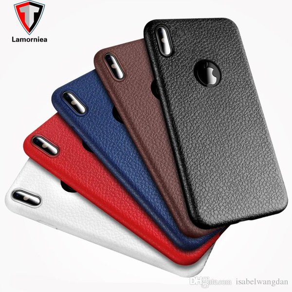 Lamornie Luxury Leather Case For iphone 8 7 6 6s plus Cover Soft TPU Case For Samsung Note 8 Case Cover