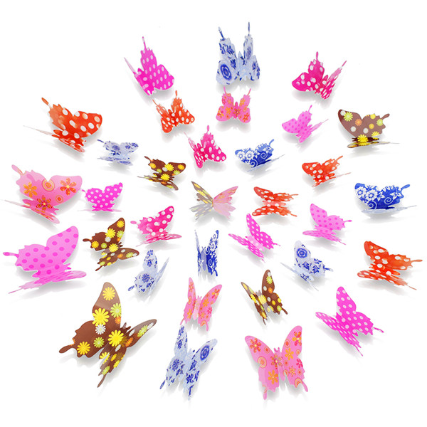 3d wall stickers DIY poster Stickers butterflies wall stickers for kids rooms home decor home decoration accessories LF-016