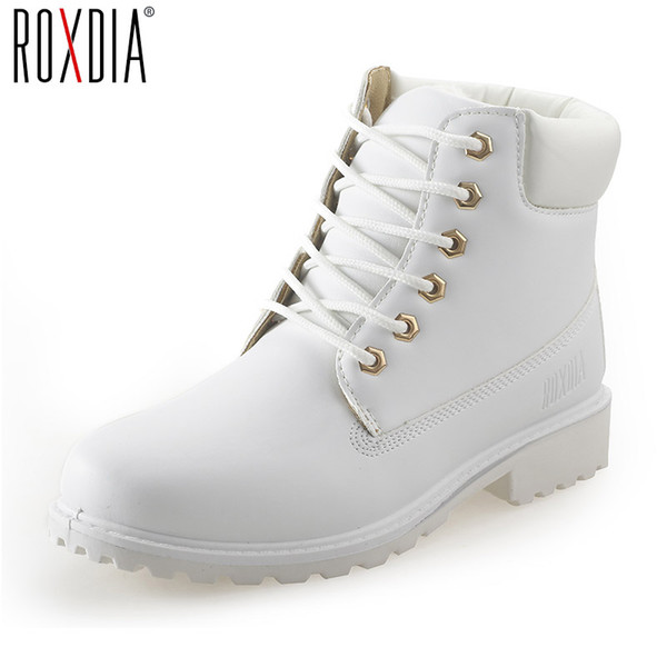 Autumn winter women ankle boots 2017 fashion woman white black snow boots for girls ladies work shoes female booties
