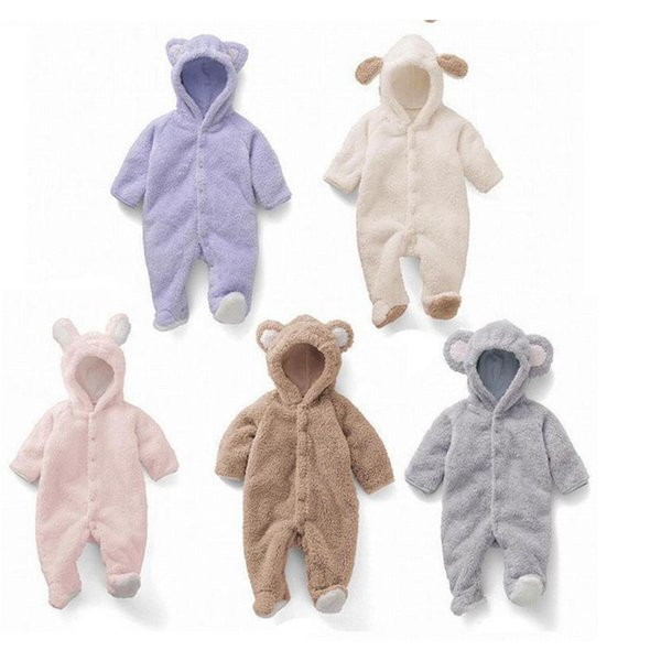 Spring Autumn INS Boys Girls Clothes Flannel Clothes Cartoon Animal Jumpsuit Baby Girl Rompers Clothing Pajamas Infant Romper Baby