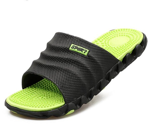 New Summer Cool Water Flip Flops Men High quality Soft Massage Beach Slippers Fashion Man Casual Shoes