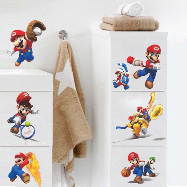 Super Mario Bros Wall Sticker Home Decor For Kids Room Baby Bedroom  Stickers Big Super Mario
