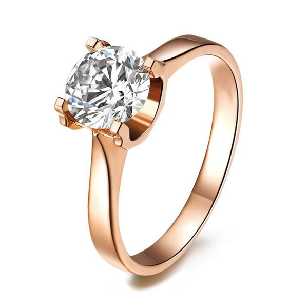 Wholesale Multicolor Prong Setting 1.0CT SONA Synthetic Diamond Jewelry In 18K Gold Plated Wedding Rings 925 Sterling Silver Rings For Women