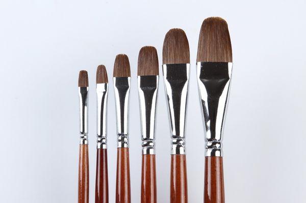 best selling 128 Professional Artist Oil Paint Brushes Sets 6Pcs set Oil Paint Brushes Sets best popular oil artist paint brushes set art