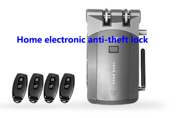 best selling Free ship, security Anti-theft lock, Electronic invisible lock,Remote control locks,smart lock ,indoor install suit for home,Important door