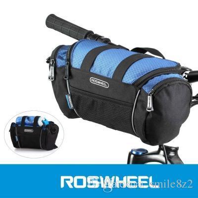 2 Couleurs Roswheel Utilitaire Vélo Sacs 5L Vélo Guidon Sac Vélo Avant Tube Poche Épaule Pack Équitation Vélo Fournitures + B