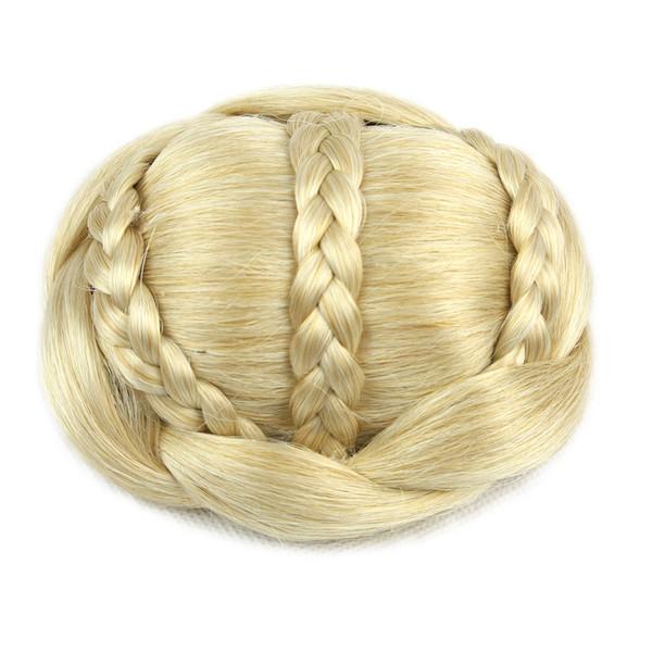 6 Colors Brown Braided Chignon Clip Bun Donut Hair Roller Party Hair Accessories for Women