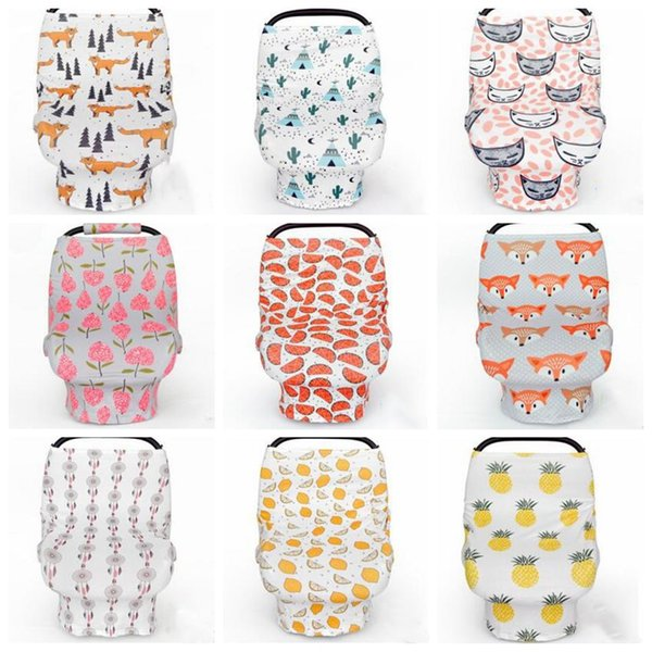 top popular Baby Car Seat Canopy Ins Stroller Cover Shopping Cart Cover Breastfeed Nursing Covers Sleep Pushchair Case Pram Travel Bag By Cover B2975 2021