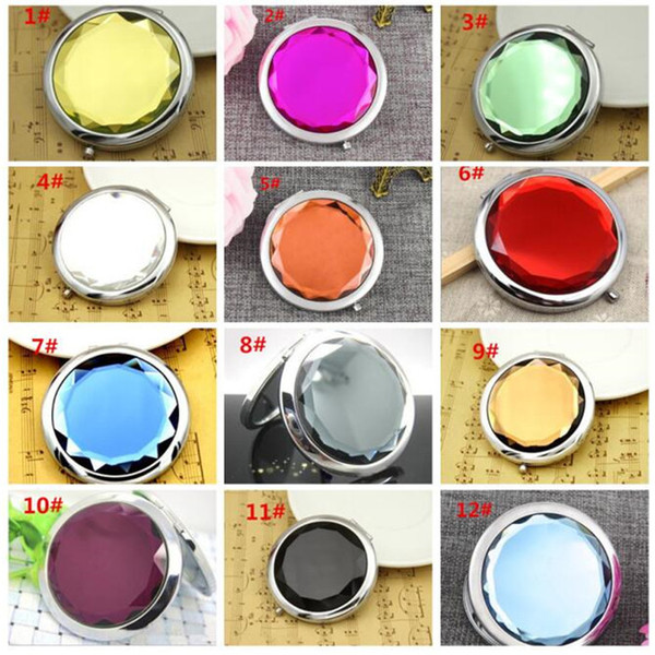 220pc 12color co metic compact mirror cry tal magnifying multi color make up makeup tool mirror wedding favor gift x038