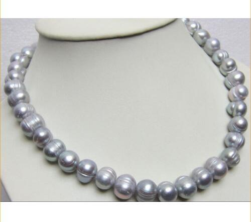 11-13MM SOUTH SEA SILVER GRAY PEARL NECKLACE 14K 18""