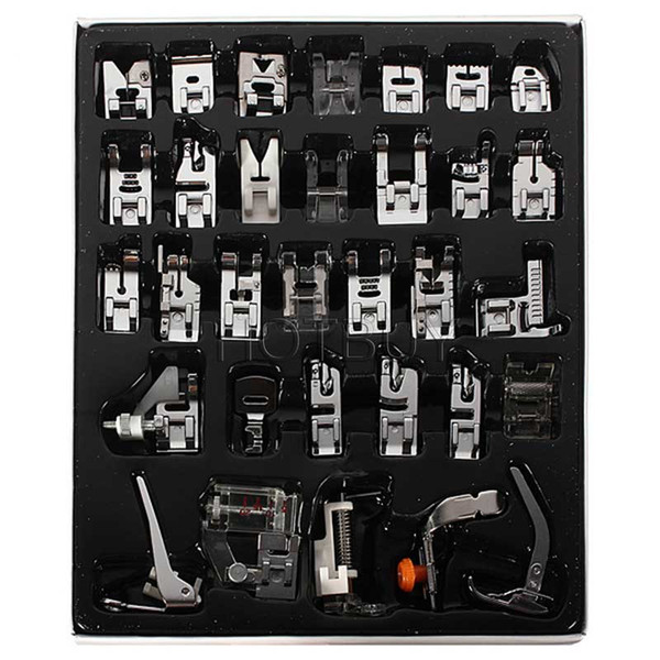 New Domestic Sewing Machine Presser Foot Feet Kit Set 32pcs Free Shipping For Brother Singer Janome #4012