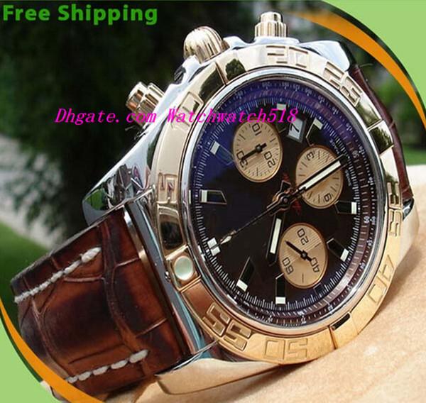 GUAUU ! Equipado con caja original Certificado Reloj de pulsera de lujo Cronografía 44 mm Chronomat Oro rosa Acero Reloj con esfera perfecta para hombres