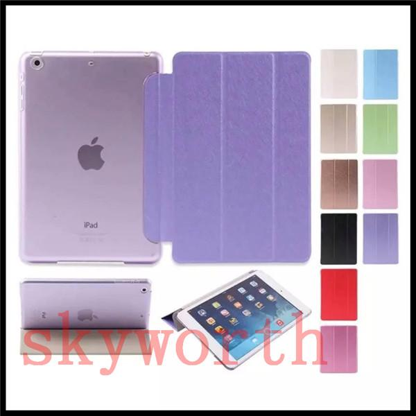 Smart cover + clear Hard back case for ipad Pro 9.7 air 2 3 4 5 6 mini4 Samsung tab A S S2