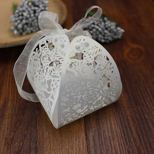 Small bug shape favor box with ribbon Baby shower party supply birthday party supply flower shape gift boxes