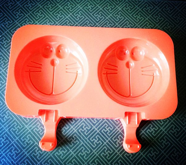 New Style Cartoon Silicone Popsicle Mold Jingle Cats Monkey Pooh Bear Shape Ice Cream Mold Chocolate Mold Baking Tool