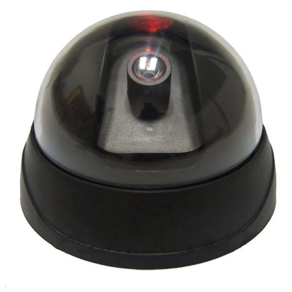Cámara de domo de seguridad falsa de vigilancia CCTV Cámara domo de seguridad de oficina con luz LED roja intermitente al por mayor