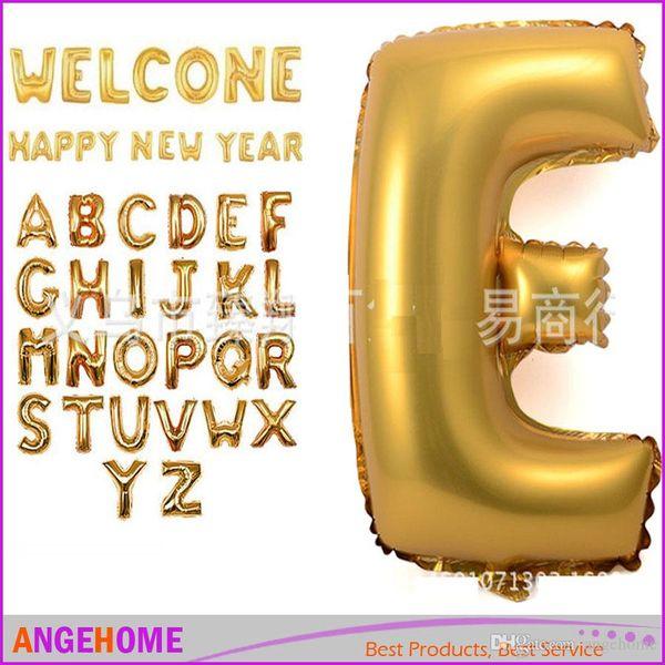 16 Zoll Gold Silber Alphabet Helium Aluminiumfolie Ballon 26 Buchstaben Hochzeit Weihnachten Geburtstag Baby Shower Party Dekoration Lieferungen