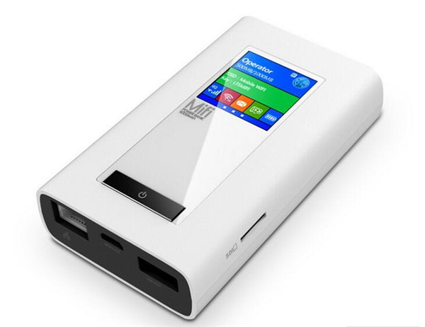 New LTE GSM 4G Wireless Dongle Mifi with 5200mAh Power SIM Card Slot RJ45 Port Modem Function Global Unlock Wifi Router