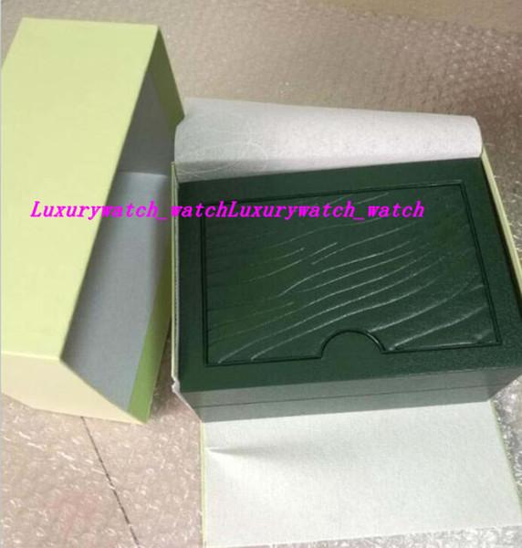 Fabrik Lieferant Grüne Marke Original Box Papiere Geschenk Uhren Boxen Leder Tasche Karte für 116610 116660 116710 116613 116500 Uhrenboxen