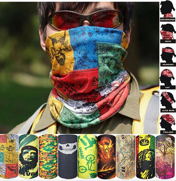 2016 Venta Caliente Nueva Bandanas Multifuncional Bufanda de Ciclismo Al Aire Libre Magia Turbante Banda de Pelo del Protector Solar envío Gratis 1-22 Color libre elegir