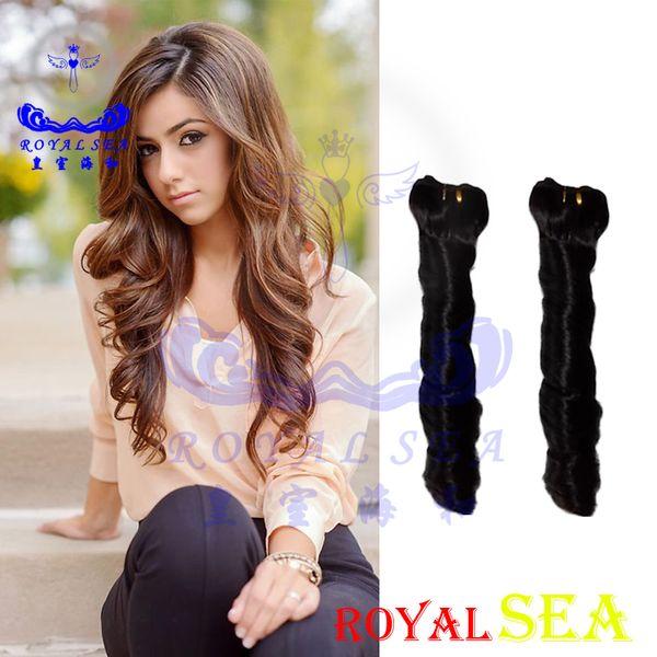 Royal Sea Peruvian Virgin Hair Curly 2pcs Human Hair Extensions Brazilian Malaysian Indian Mongolian Spring Hair Bundle Weaves