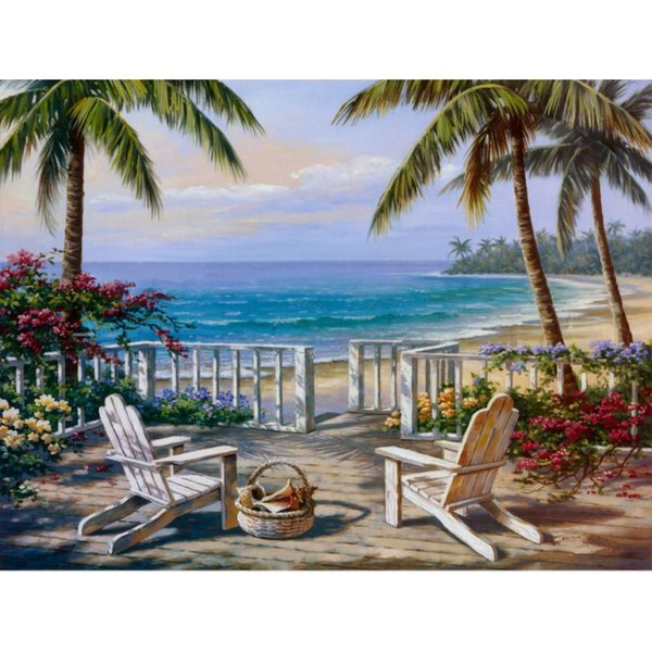 Modern art oil paintings Coastal View Sung Kim canvas reproduction hand-painted wall decor
