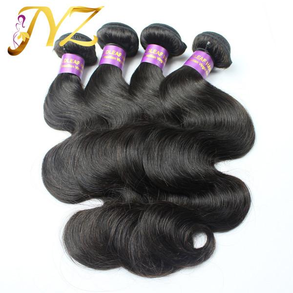 Großhandel Billig Unverarbeitete Haar Brasilianische Körperwelle Haareinschlag 3 Stücke Lot 8-30 Goldleaf Haar Produkte Dhl-freies Verschiffen