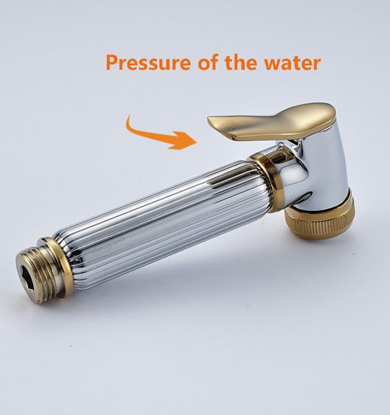 best selling Chrome & Golden Hand-held Toilet Plating Spray Nozzle Sprinkler Shower Head Bidet