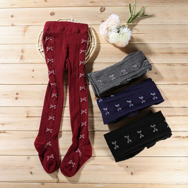 Wholesale High Quality Cute Cotton Children Kids Girl Leggings with Butterfly Spring Autumn 3pcs/lot Autumn