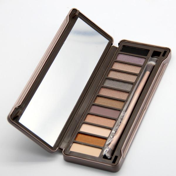 Les ventes chaudes! Nouvelle mode maquillage mat ombre à paupières NUDE 12 palette de fard à paupières couleur 15,6 g de haute qualité NUDE 2