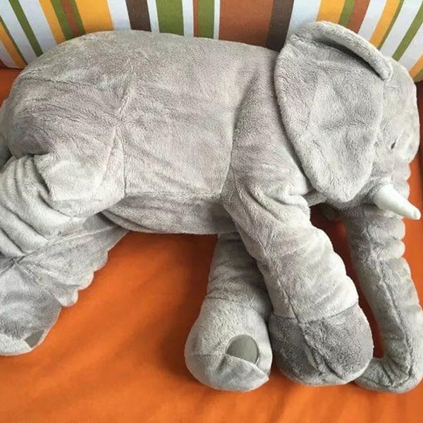 Kawaii Children's Bedroom Elephant Pillow Baby Bed Cushion Cushion gray Elephant Plush Toys Children's day Birthday Gift