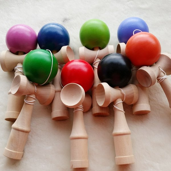 Professional 19cm wood kendamas gifts toys Glossy Kendama Ball Japanese Traditional Game Kids PU Paint & Beech