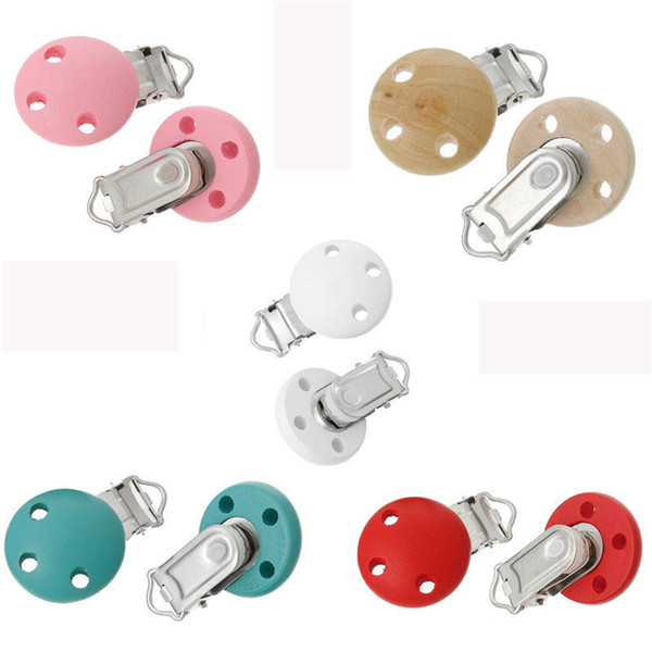 Funny Infant Baby Wooden Pacifier Suspender Clips Dummy Nipples 2015 New #T701