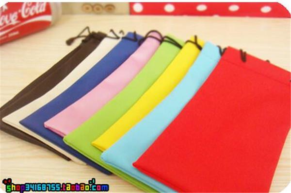 300pcs waterproof leather plastic sunglasses pouch soft eyeglasses bag glasses case many colors mixed 17*9cm D652