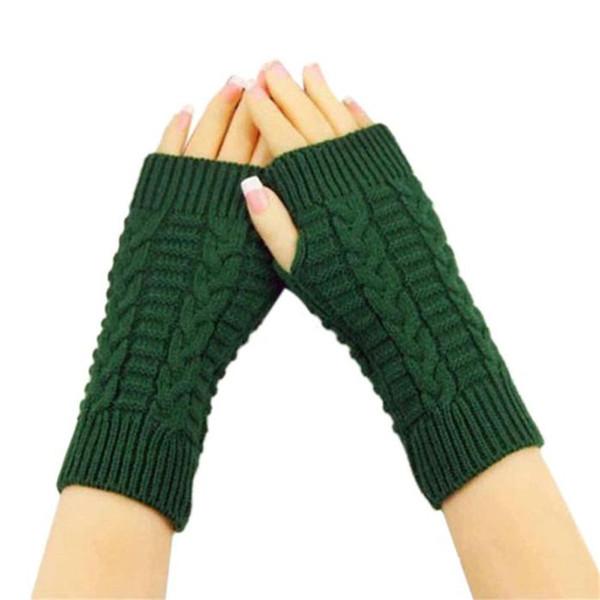 # 5606 Guantes 1Pair Moda de punto sin dedos del brazo de invierno unisex caliente suave de la manopla