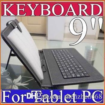 OEM-Farben Micro-USB-Tastatur Ledertasche für 9 Zoll Android Tablet PC Falten Leder Schutzhülle B-JP