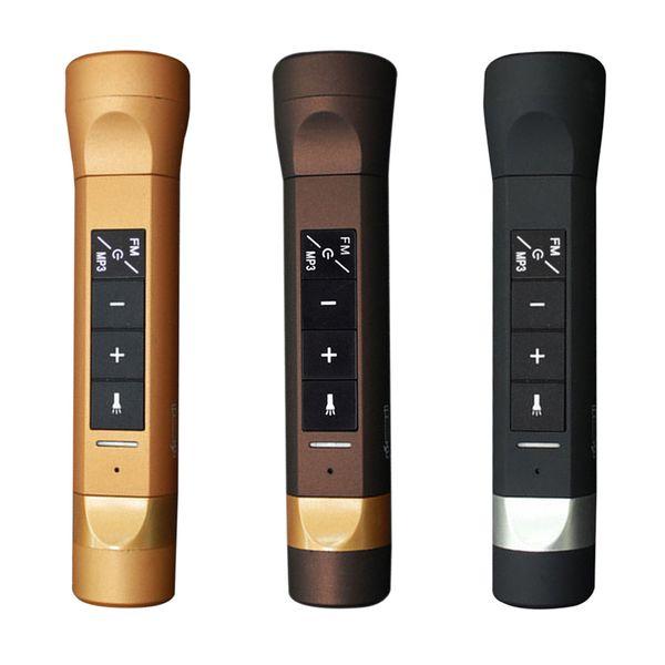 Fahrradlautsprecher Subwoofer Multifunktions-Stereo-Bluetooth-Funklautsprecher Power Bank Ladegeräte Taschenlampe Reiten MP3 4 in 1 DHL OTH228