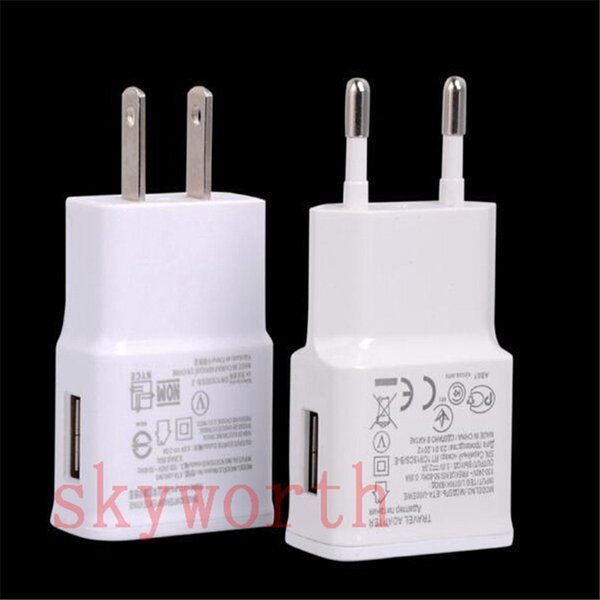 Full 2A EU US USB Travel Wall Charger Power Plug Adapter for Samsung Galaxy Note 3 4 5 N7100 N9100 S4 S5 s6