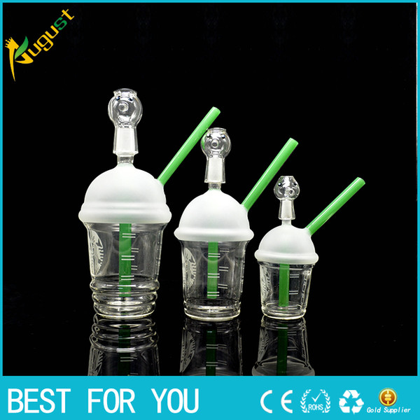 top popular McDonald Cup Spritech Tree Cup Starbuck Cup Original Opaque concentrate oil rig glass bong glass dome and nail Hookah glass water pipe 2019