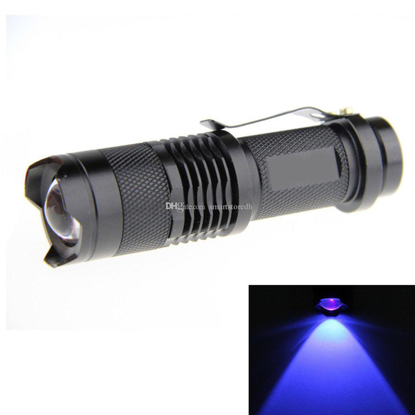 7w Q5 LED 3-mode Shell Portable Uv Flashlight Torch Adjustable Focus 14500 F00401 SPDH
