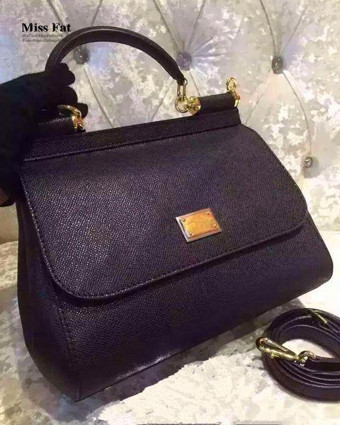 إيطاليا الفاخرة العلامة التجارية الشهيرة D يا G س 25CM أكياس صغيرة المرأة حقيبة جلد طبيعي امرأة جودة الأصلي خمر رسول حقيبة missfat