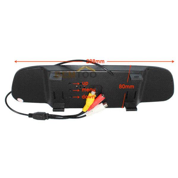 Dropshipping, macchina fotografica impermeabile di retrovisione dell'automobile di visione notturna con il monitor a specchio dell'automobile di colore a 4.3 pollici LCD, trasporto libero